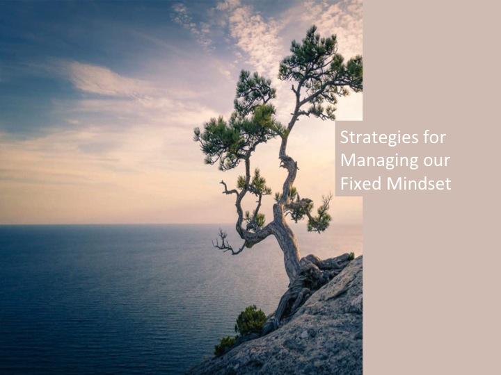 Fixed mindset srategies